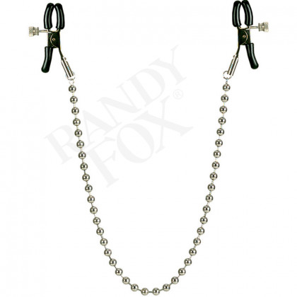 Nipple Clamps Silver Beaded
