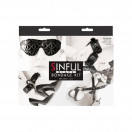 New Sensations Novelties Sinful Bondage Kit - Black