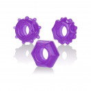 Calexotics Reversible Cock Ring Set - Purple