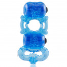 Screaming O - The Tri-O Triple Pleasure Ring - Blue