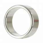 Alloy Metallic Ring Medium Silver