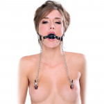 Fetish Fantasy Extreme - Deluxe Ball Gag & Nipple Clamps