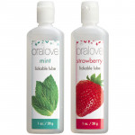 Doc Johnson Oralove Oral Delight Lubricant Oral Sex Aid 2 Pack - Strawberry and Mint
